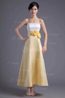 Elegant Strapless A-line Flowers Evening Dress UK Sleeveless Zipper_1