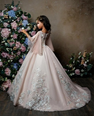 Lovely Princess Flower Girl Dress   2019 Zipper Girls Pageant Dress_4