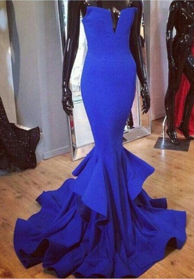 Mermaid Womens Royal Blue Evening Dress UK Sexy Luxury Online_1
