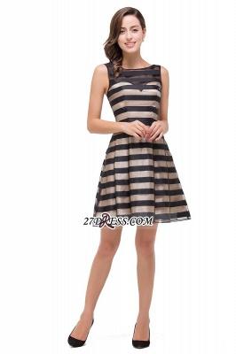 Short Party Black Sleeveless Illusion Elegant Homecoming Dress UK_2