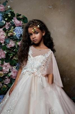 Lovely Princess Flower Girl Dress   2019 Zipper Girls Pageant Dress_3