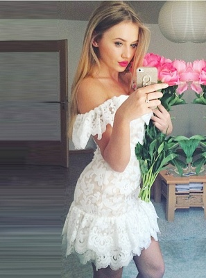 Chic Bateau Backless Homecoming Dress UKes UK | Sleeveless Mermaid Cocktail Dress UKes UK_1