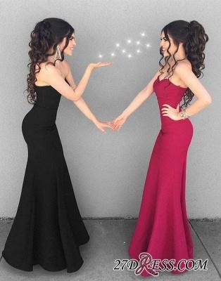 Mermaid Simple Black Sweetheart-neck Stylish Long Evening Dress UKes UK BA6852_1