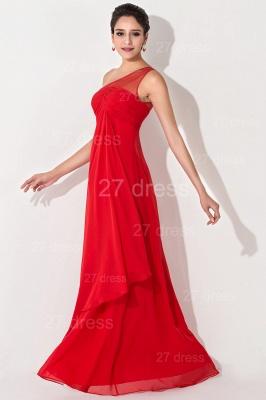 Chiffon Red One Shoulder Evening Dress UK A-line Floor-length_2