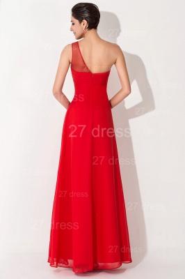 Chiffon Red One Shoulder Evening Dress UK A-line Floor-length_3