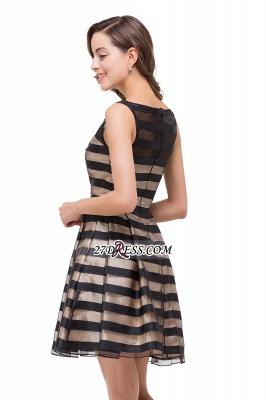 Short Party Black Sleeveless Illusion Elegant Homecoming Dress UK_3