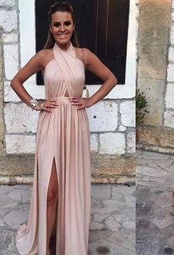 A-line Sleeveless Newest Backless Split-front Elegant Evening Dress UK BA4745_2
