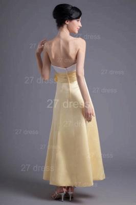Elegant Strapless A-line Flowers Evening Dress UK Sleeveless Zipper_5