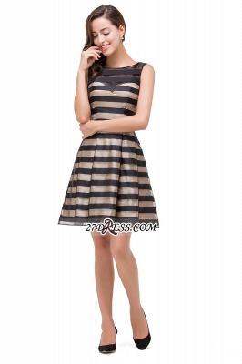 Short Party Black Sleeveless Illusion Elegant Homecoming Dress UK_4