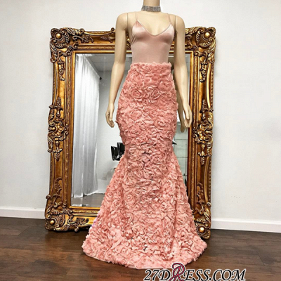 Spaghetti-Strap Luxury Mermaid Floor-Length Prom Dress UK BA8931_2