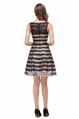 Short Party Black Sleeveless Illusion Elegant Homecoming Dress UK_5