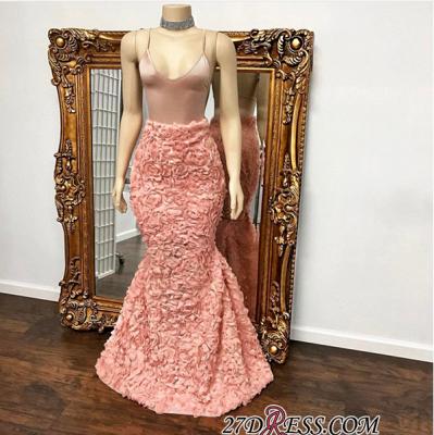 Spaghetti-Strap Luxury Mermaid Floor-Length Prom Dress UK BA8931_1