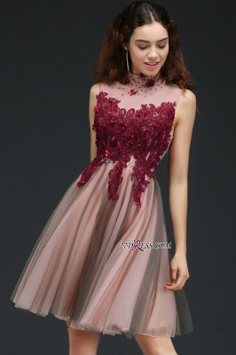 Burgundy-Flowers Hollow-Back High-Neck Tulle Sexy Homecoming Dress UKes UK_6