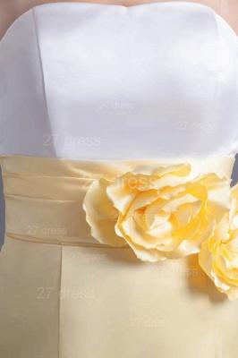 Elegant Strapless A-line Flowers Evening Dress UK Sleeveless Zipper_2