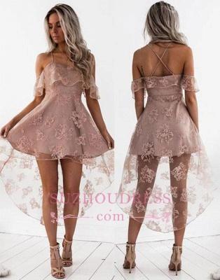 Short Hight-low Lace A-line Cute Homecoming Dress UK BA7000_1
