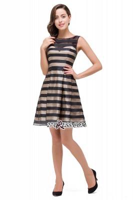 Short Party Black Sleeveless Illusion Elegant Homecoming Dress UK_6