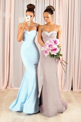 Sexy Spaghetti-Straps Bridesmaid Dress UK | Mermaid Maid of Honor Dress UK_4