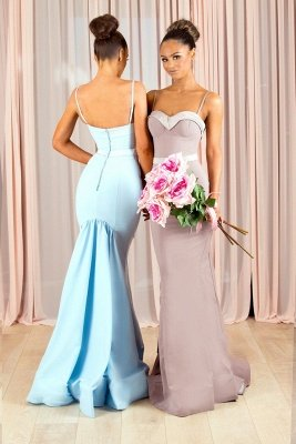 Sexy Spaghetti-Straps Bridesmaid Dress UK | Mermaid Maid of Honor Dress UK_1