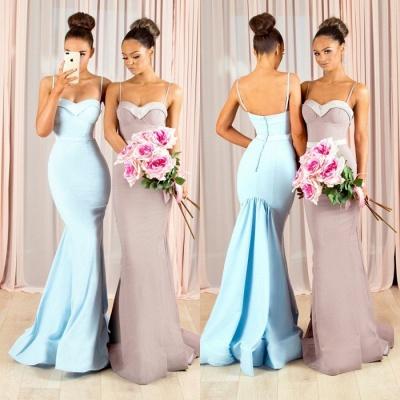 Sexy Spaghetti-Straps Bridesmaid Dress UK | Mermaid Maid of Honor Dress UK_3
