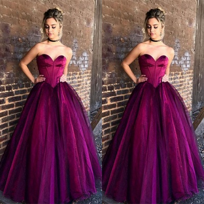 Luxury Sweetheart Long Princess Evening Dress UK Tulle Long Party Gowns BA9865_3