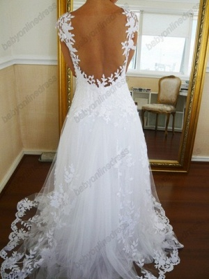 Lace  CustomWedding Dresses UK Off the Shoulder Freeshipping Low Price_2