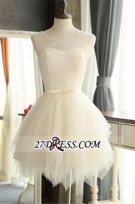 Sexy Mini A-Line Tulle Sleeveless Homecoming Dress UKes UK_5