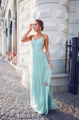 Straps Chiffon Mint Backless Floor-length Elegant Long Evening Dress UKes UK BA3350_3