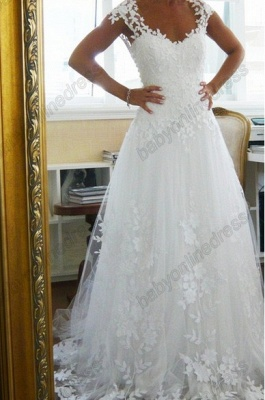 Lace  CustomWedding Dresses UK Off the Shoulder Freeshipping Low Price_1