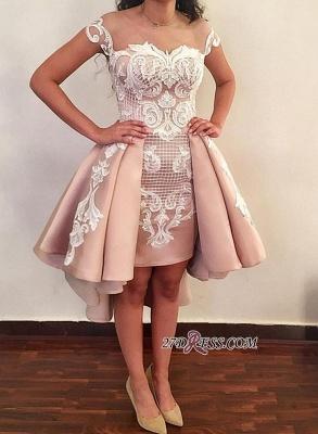 Lace ruffles short prom Dress UK, homecoming Dress UK online BA8007_3