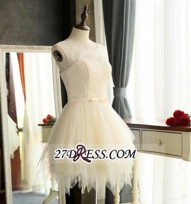 Sexy Mini A-Line Tulle Sleeveless Homecoming Dress UKes UK_3