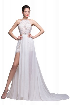 Newest High Neck Gorgeous Prom Dress UK Long beadings Chiffon Evening gown With Lace Appliques CPS231_3