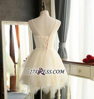 Sexy Mini A-Line Tulle Sleeveless Homecoming Dress UKes UK_4