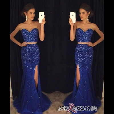 Luxury Beadings Sweetheart Mermaid Two-Pieces Split Prom Dress UK PT124-AP0_2