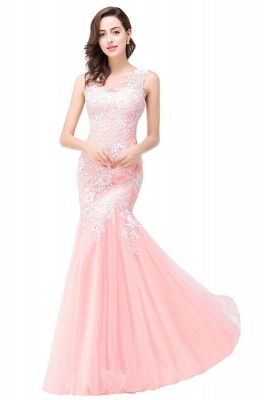 Sexy Pink Mermaid Prom Dress UK Straps Floor-length_11