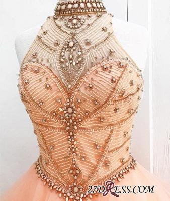 Neck Beading High Dress UKes UK Sexy Gown Sleeveless Ball Prom Evening Dress UKes UK_3