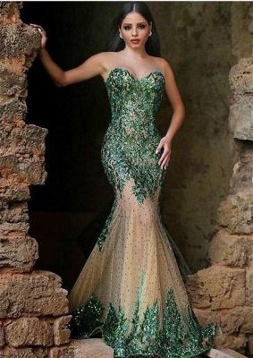 Gorgeous Sleeveless Mermaid Prom Dress UKes UK Appliques Beadings Women's Party Gown MH0_1