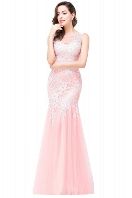 Sexy Pink Mermaid Prom Dress UK Straps Floor-length_13