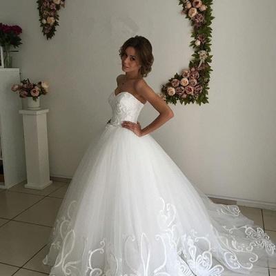 Designer Sweetheart Lace Wedding Dress Tulle Lace-up_3