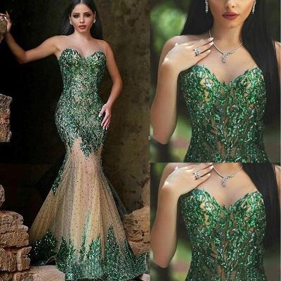 Gorgeous Sleeveless Mermaid Prom Dress UKes UK Appliques Beadings Women's Party Gown MH0_3