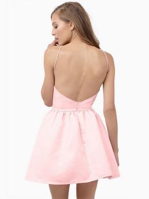 Modest Pink Jewel Mini Homecoming Dress UK Sleeveless Open Back_3