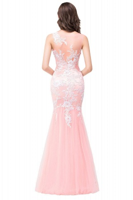 Sexy Pink Mermaid Prom Dress UK Straps Floor-length_9