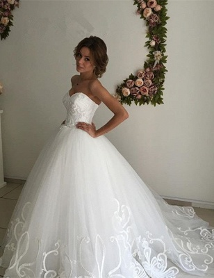Designer Sweetheart Lace Wedding Dress Tulle Lace-up_1