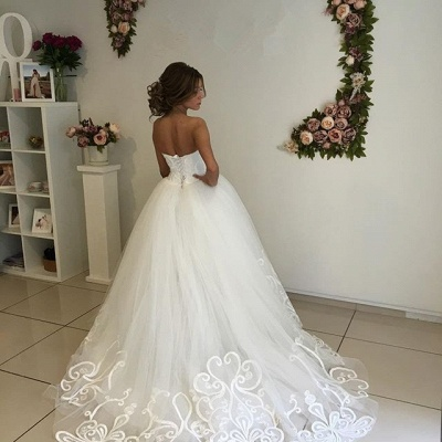 Designer Sweetheart Lace Wedding Dress Tulle Lace-up_4