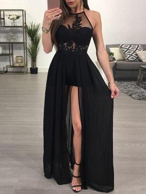 Elegant Black Halter Split Prom Dress UK Lace Chiffon On Sale BA7347_1
