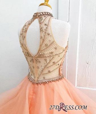 Neck Beading High Dress UKes UK Sexy Gown Sleeveless Ball Prom Evening Dress UKes UK_2