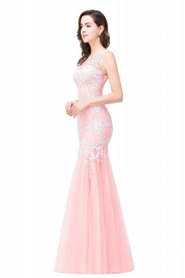 Sexy Pink Mermaid Prom Dress UK Straps Floor-length_10