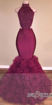 Mermaid Lace Backless Gorgeous Prom Dress UK_1