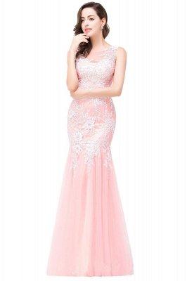 Sexy Pink Mermaid Prom Dress UK Straps Floor-length_13
