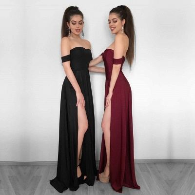 Sexy Off-the-Shoulder 2019 Evening Dress UK | Prom Party Gowns With Slit_3