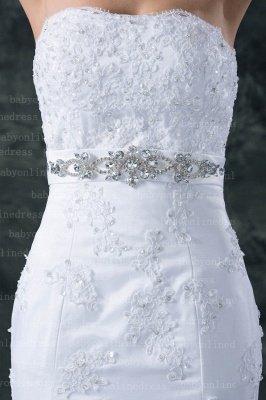 Lace White Beach Wedding Dresses UK Elegent Sexy Mermaid/trumpet Strapless Court Train Lace Beaded Up_2